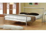 Queen Size Bed - Metal Queen Size Platform Bed in Metal Silver - Coaster - 300181Q