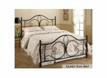 Queen Size Bed - Milwaukee Metal Bed in Antique Brown
