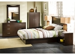 Queen Size Bedroom Furniture Set 72 in Chocolat - Step One - South Shore Furniture - 3159-BSET-72