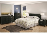 Queen Size Bedroom Furniture Set 82 in Ebony - Gravity - South Shore Furniture - 3577-BSET-82