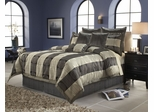 Queen Size Comforter Set - 11 Piece Set in Skyline Pattern - 82EQ712SKY