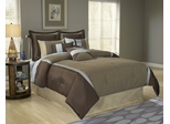 Queen Size Comforter Set - 11 Piece Set in Stockton Pattern - 82EQ712STK