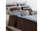 Queen Size Comforter Set - Conrad 8 Piece Set in Multi / Spice - CON-QUEEN-COMFORT-SET