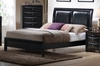 Queen Size Platform Bed - Briana Queen Size Platform Bed in Glossy Black - Coaster - 200701Q