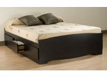 Queen Size Platform Storage Bed in Black - Sonoma Collection - Prepac Furniture - BBQ-6200