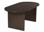 Race Track Conference Table in Mahogany - Office Star - CT7236RT3