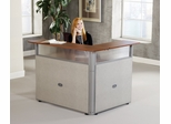 "Reception Desk - 60"" x 48"" L-Shaped Reception Station with Tops - OFM - PG297"