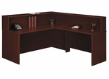 Reception Desk Set - Series C Mahogany Collection - Bush Office Furniture - WC36724-36-76