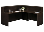 Reception Desk Set - Series C Mocha Cherry Collection - Bush Office Furniture - SC-RDESK-MC