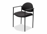 Reception Guest Chair - Black Fabric - LLR69508