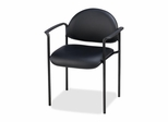 Reception Guest Chair - Black Vinyl - LLR69507