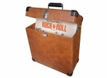 Record Carrier Case - Tan Vinyl - Crosley - CR401