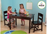 Rectangle Table and 2 Chair Set - Espresso - KidKraft Furniture - 26680