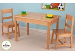 Rectangle Table and 2 Chair Set - Natural - KidKraft Furniture - 26681