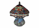 Red Dragonfly Tiffany Accent Lamp - Dale Tiffany
