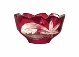Red Floral Bowl - Dale Tiffany
