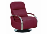 Regal ll Stargo Red Recliner with Chrome Arms - 44010545119