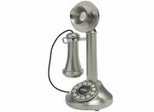 Retro Phone - The Candlestick Phone - Brushed Chrome - Crosley - CR64-BC