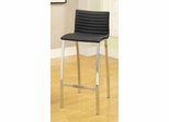 Ribbed Bar Height Stool with Wide Bowed Legs - Set of 2 - 120890