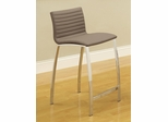 Ribbed Counter Height Stool with Wide Bowed Legs - Set of 2 - 120899