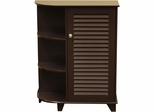 RiverRidge Home Espresso Ellsworth Cabinet with Side Shelves