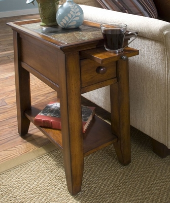 Riverside Andorra Accent Table with Pullout Shelf - Riverside Furniture - 5312C