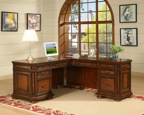 Riverside Cantata L Shaped Desk and Return - Riverside Furniture - 4928