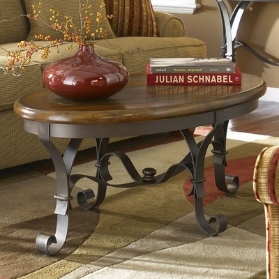 Riverside Stone Forge Oval Cocktail Table - Riverside Furniture - 31002