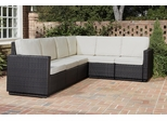 Riviera 6 Seater L-Shape Sectional Sofa with Cushions in Stone - Home Styles - 5801-60
