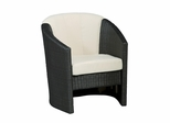 Riviera Barrel Accent Chair with Cushion in Stone - Home Styles - 5801-80