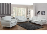 Robyn Bonded Leather 3PC Sofa Set in White - 504541
