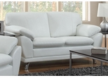 Robyn Bonded Leather White Loveseat  - 504542