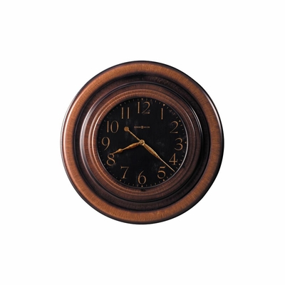 Rockwell Oversized Gallery Wall Clock In Brown Howard Miller