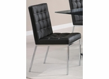 Rolien Black Vinyl Chair with Accent Stitching - Set of 2  - 102312