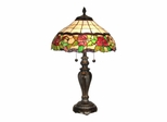 Rose Floral Table Lamp - Dale Tiffany