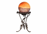 Rose With Globe Accent Lamp - Dale Tiffany