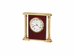 Rosewood Bracket Quartz Table Clock - Howard Miller