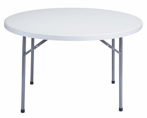"""Round Blow Molded Folding Table 48"""" - National Public Seating - BT-48R"""