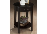 Round Chairside Table in Dark Merlot - 1028-7