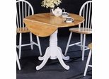 Round Dining Table in Natural / White - Coaster