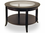 Round Glass Cocktail Table - Winsome Trading - 92219