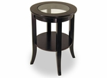 Round Glass Top Side Table - Winsome Trading - 92218
