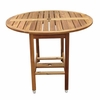 Round Outdoor Folding Table in Natural - Merry Products - MPG-TBS01-TB