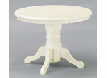 Round Pedestal Dining Table in Antique White - 5177-30