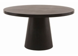 Round Pedestal Dining Table in Dark Mocca - Diamond Sofa - 681