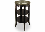 Round Side Table with Glass Top - Winsome Trading - 92318