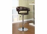 Rounded Back Bar Stool in Brown - 122095