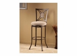 Rowan Swivel Bar or Counter Stool in Silver Brown - Hillsdale