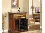 Rutherford Wine Cabinet in Vintage Cherry - Classic Flame - DC387C233-3641