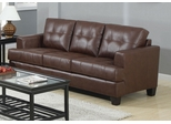 Samuel Dark Brown Sofa with Attached Seat Cushions - 504071
